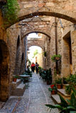 Mittelalterliches Dorf Spello in Italien Lizenzfreie Stockbilder