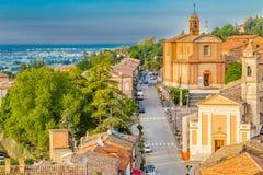 Mittelalterliches Dorf von Longiano Stockfoto
