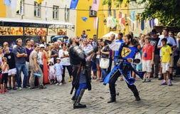 Mittelalterliches Festival von Sighisoara Lizenzfreie Stockfotografie