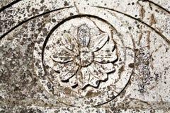 Mittelalterliches Flachrelief Stockfotografie