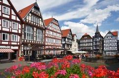 Mittelalterliches Fritzlar, Deutschland Lizenzfreie Stockbilder