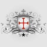 Mittelalterliches heraldisches Schild Stockfotografie
