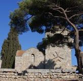 Mittelalterliches Kloster Stockbild
