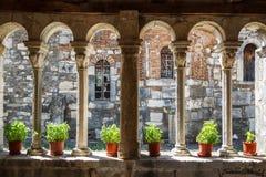 Mittelalterliches Kloster errichtet über den Ruinen des alten Apollonia Lizenzfreies Stockfoto