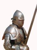 Mittelalterliches Knight.Isolated Lizenzfreies Stockbild