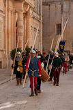Mittelalterliches Mdina-Festival Stockbild