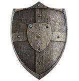 Mittelalterliches Metallschild Stockfotografie