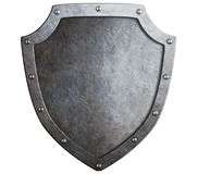 Mittelalterliches Metallschild lokalisiert Lizenzfreies Stockbild