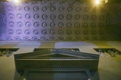 Mittelalterliches Muster auf die Oberseite der Bogendecke, Vilnius lizenzfreie stockfotos