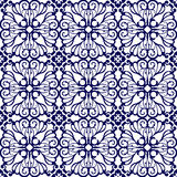 Mittelalterliches nahtloses mit Blumenmuster Lizenzfreie Stockfotografie