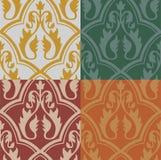 Mittelalterliches nahtloses Muster Stockfotos