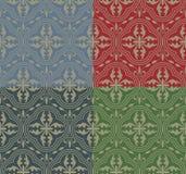 Mittelalterliches nahtloses Muster Stockbilder