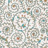 Mittelalterliches nahtloses Muster stock abbildung