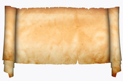 Mittelalterliches Pergament Stockbild