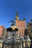Mittelalterliches Rathaus Gdansks Lizenzfreie Stockbilder