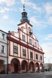 Mittelalterliches Rathaus in Vrchlabi stockfotos