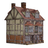 Mittelalterliches Reihenhaus Stockfoto