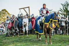 Mittelalterliches Ritterkämpfen Stockfoto