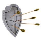 Mittelalterliches Schild Lizenzfreies Stockfoto