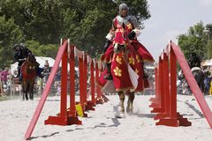 Mittelalterliches Schloss adelt Turnier Stockfoto
