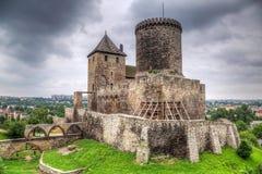 Mittelalterliches Schloss in Bedzin Stockbilder