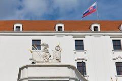 Mittelalterliches Schloss in Bratislava, Slowakei Stockfotos