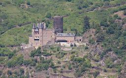 Mittelalterliches Schloss - Burg Katz Stockfoto