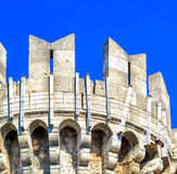 Mittelalterliches Schloss des Hospitaller adelt auf der Insel von Rhodos, Griechenland Lizenzfreie Stockfotos