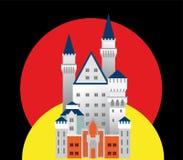 Mittelalterliches Schloss in Deutschland Stockfotos