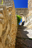 Mittelalterliches Schloss am Heiligen Saturnin-les-Wohnung Stockfotografie