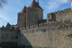 Mittelalterliches Schloss im Süden von Frankreich Lizenzfreie Stockfotografie