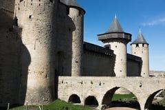 Mittelalterliches Schloss im Süden von Frankreich Lizenzfreie Stockbilder