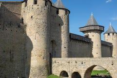 Mittelalterliches Schloss im Süden von Frankreich Stockbild