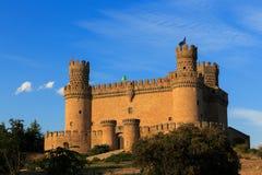 mittelalterliches Schloss - Manzanares (Spanien) stockbilder