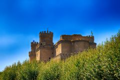 mittelalterliches Schloss - Manzanares (Spanien) stockfotos
