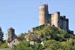 Mittelalterliches Schloss in Najac (Frankreich) stockfotografie