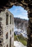 Mittelalterliches Schloss Ogrodzieniec in Polen Stockfotos