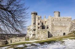 Mittelalterliches Schloss Ogrodzieniec in Polen Lizenzfreie Stockbilder
