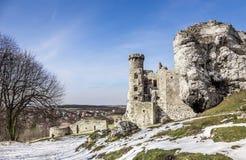 Mittelalterliches Schloss Ogrodzieniec in Polen Stockfoto