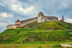 Mittelalterliches Schloss in Rasnov, Rumänien Stockfotos