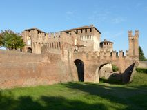 Mittelalterliches Schloss Soncino - Cremona - Italien Stockfotografie