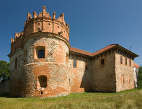 Mittelalterliches Schloss in Starokostiantyniv Stockfotos