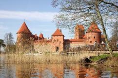 Mittelalterliches Schloss in Trakai Stockfoto