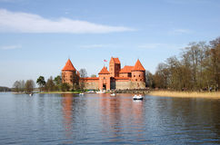 Mittelalterliches Schloss in Trakai Stockbilder