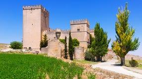 Mittelalterliches Schloss von Ampudia Stockbild