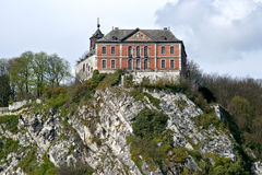 Mittelalterliches Schloss von Chokier, Flemalle Haute, Belgien Stockbild