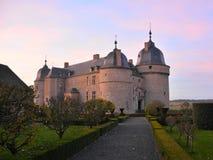 Mittelalterliches Schloss von Lavaux-Sainte-Anne, Belgien stockfotos