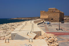 Mittelalterliches Schloss von Paphos Lizenzfreies Stockfoto