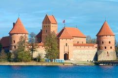 Mittelalterliches Schloss von Trakai, Vilnius, Litauen, Osteuropa stockfotografie