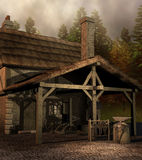 Mittelalterliches Schmiedehaus Stockbilder